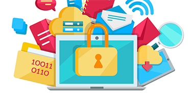Illustration of locked computer