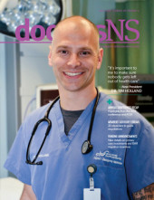 Dr. Tim Holland is featured on the cover of the June 2018 issue of doctorsNS magazine