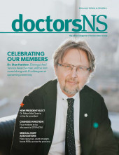 Cover image of May 2019 issue of doctorsNS magazine