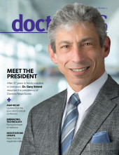 June-July issue cover image of Dr. Gary Ernest, DNS President