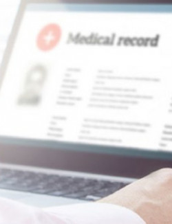 Laptop with medical record view