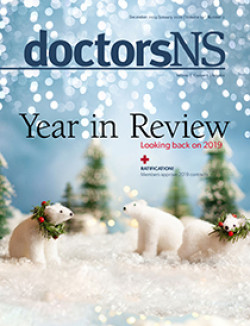 Cover image of December 2019/January 2020 issue of doctorsNS magazine