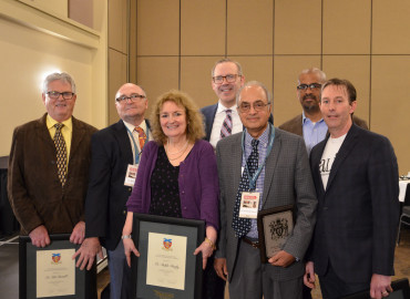 Award recipients at 2018 AGM